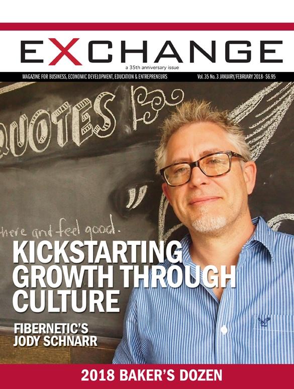 Exchange Magazine Cover - Fibernetics Jody Schnarr