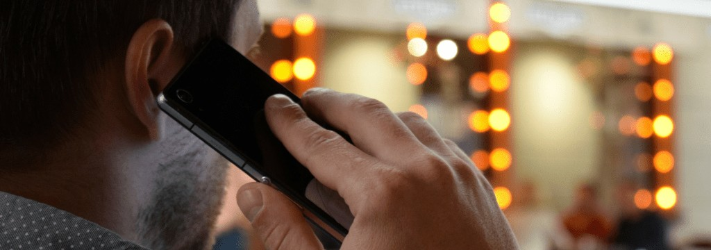 Talking on mobile phone - Fibernetics