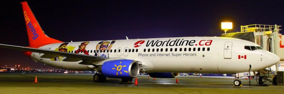 Worldline Branded Sunwing Plane