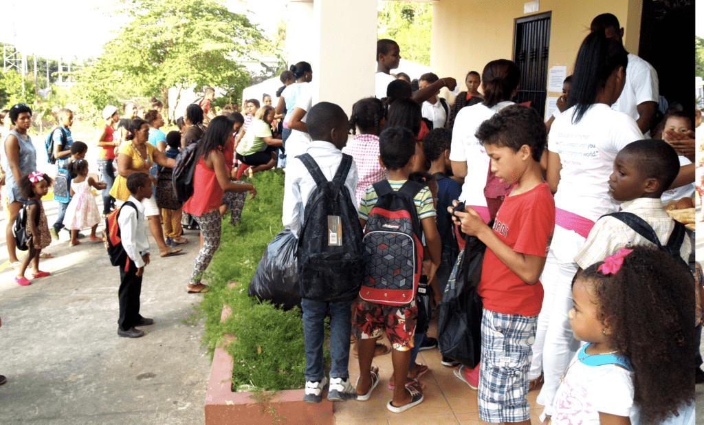 Kids in the Dominican Republic, ready for school