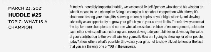Huddle 25